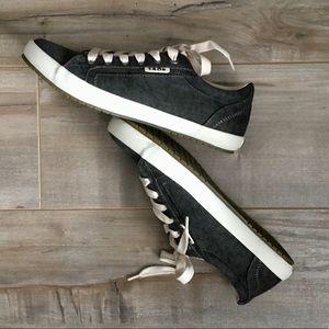 Taos Star Dark Washed Canvas Sneaker